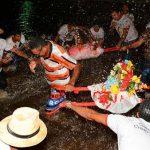 """Johannisfest im Pantanal mit Feuerwerk und """"Banho de São João"""""""